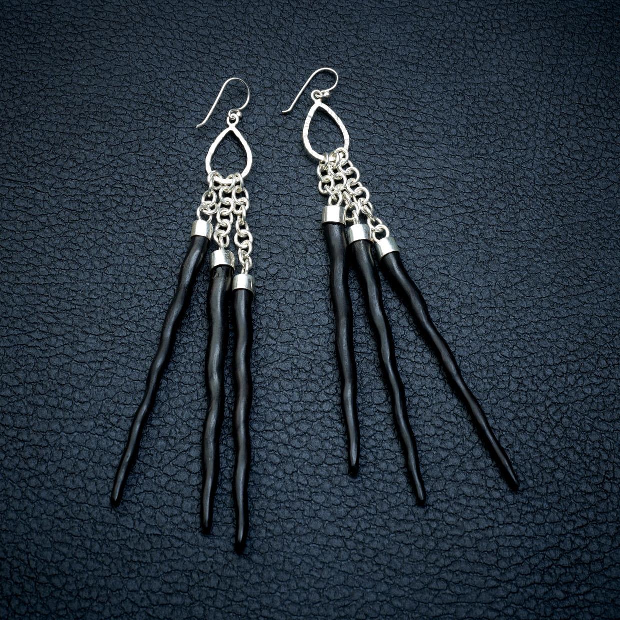 Warrior Silver Earrings